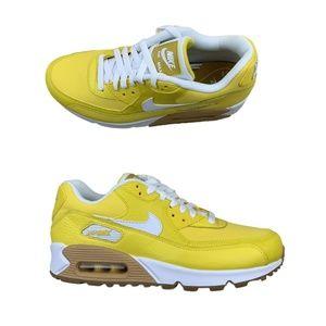 Nike Air Max 90 Premium Size 9 Womens Tour Yellow